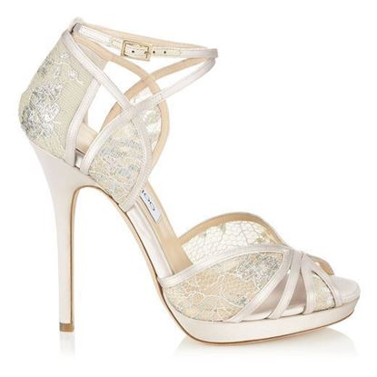 Picture of Jimmy Choo Glitter Embellished Sandal